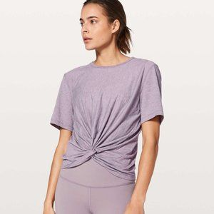 Lululemon Crescent Tee Silver Heathered Dusty Dawn